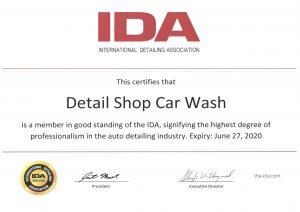 IDA Member Certificate