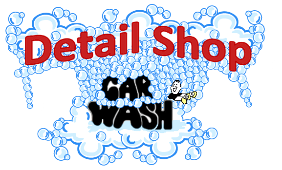 Detail Shop Car Wash Logo
