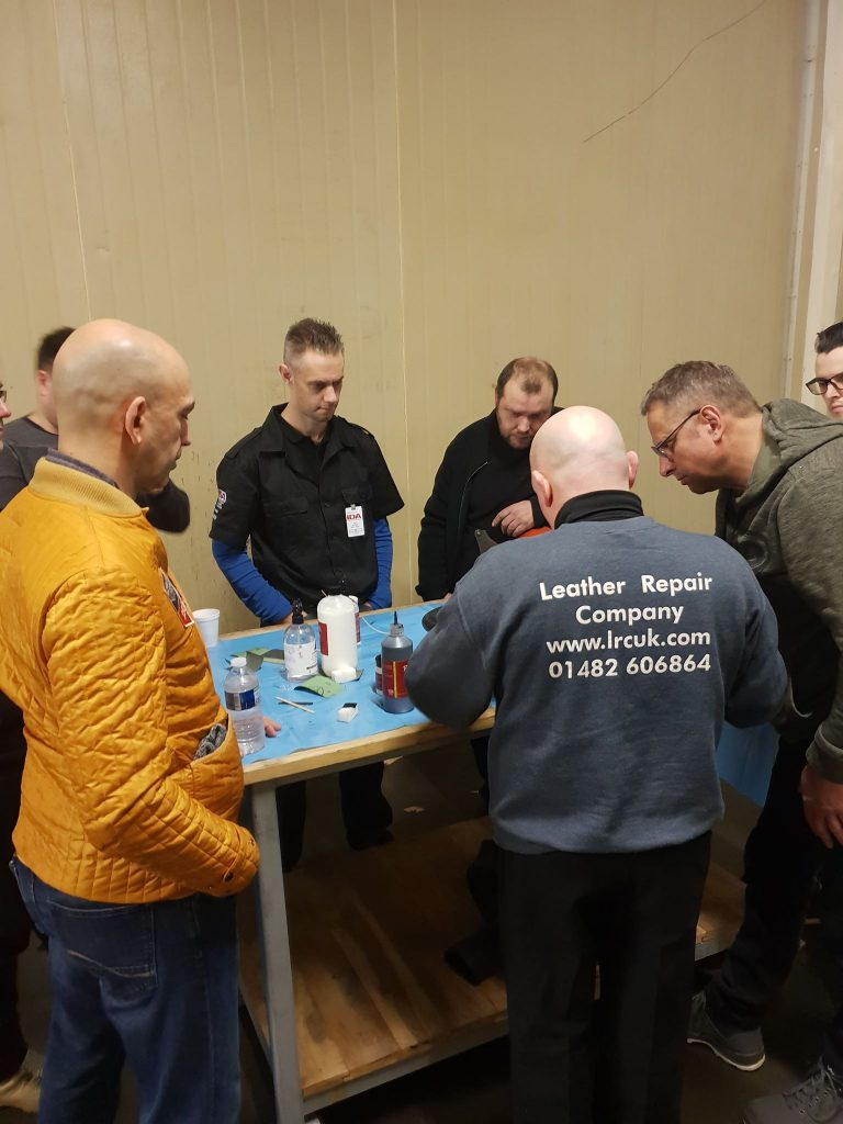 Leather Repair Company training